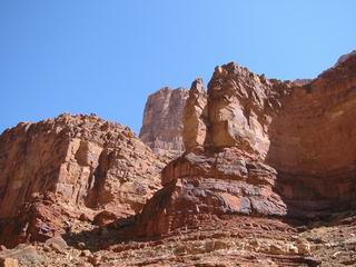 One side of the canyon.