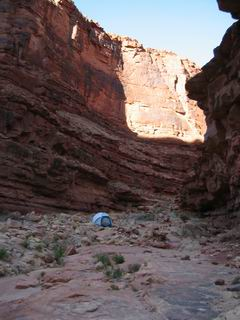 Someone else's tent.  I wonder what the canyon whispers to him at night.