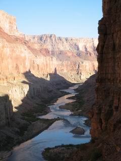 The Indians picked a beautiful place to build their granary.  You can see the river meander through the canyon.
