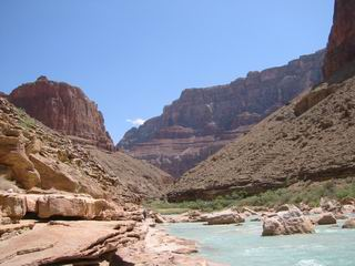 Looking upstream at the Little Colorado River.