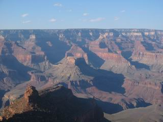 Many tourists would go visit the Grand Canyon without leaving the South Rim.  But they still can get a beautiful view.